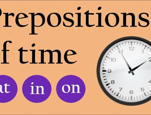 Prepositions of Time Level A1 Elementary