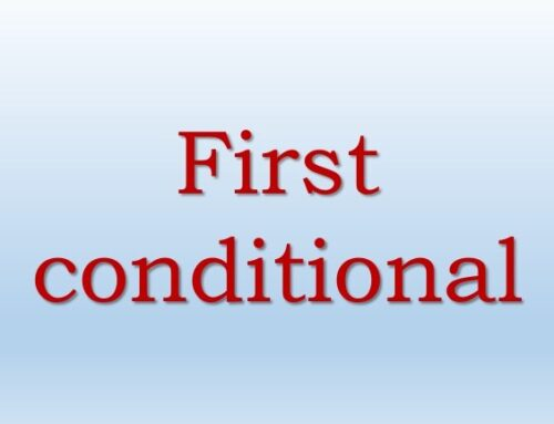 First Conditional Exercises